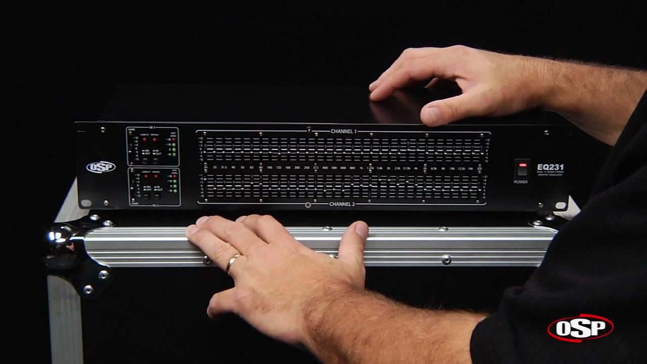 Osp Eq231 Dual 31 Band Equalizer Youtube