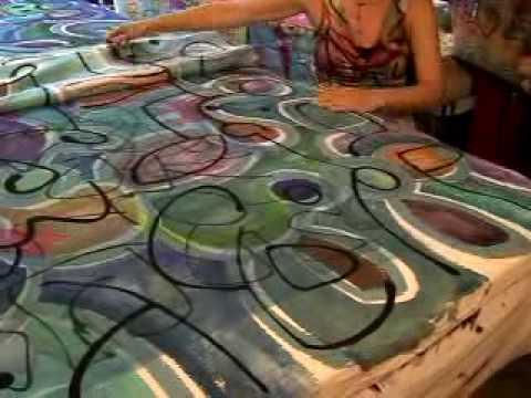IRO Design Silk Painting Process
