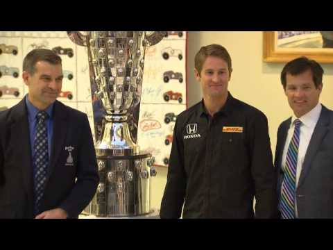 2014 Indy 500 Winner Ryan Hunter-Reay Unveiled on BorgWarner Trophy