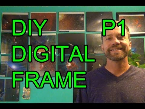 DIY Raspberry PI Digital Picture Photo Frame - P1