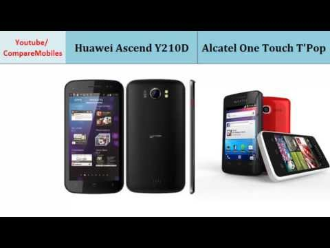 Huawei Ascend Y210D and Alcatel One Touch T'Pop, full specifications
