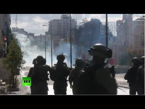 Enfrentamientos en Belén tras la decisión de Trump de reconocer a Jerusalén como capital de Israel.