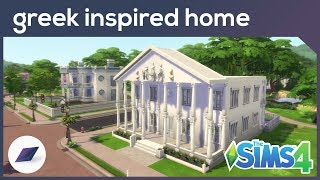 ANCIENT GREECE INSPIRED FAMILY HOME - The Sims 4