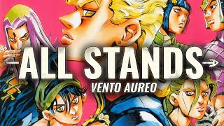 ALL STANDS IN VENTO AUREO