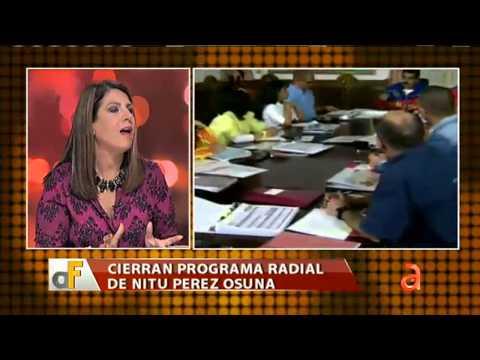 Censuran programa radial de Nitu Perez Osuna América TeVé