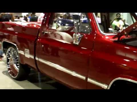 Candy Short Bed Chevy on Dub Floaters! - V-103 Car & Bike Show 2013