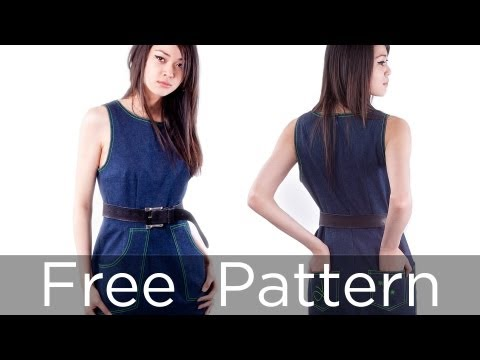 Free Dress Sewing Patterns on Dress   Part 1   Free Sewing Pattern   Follow Me Making This Dress