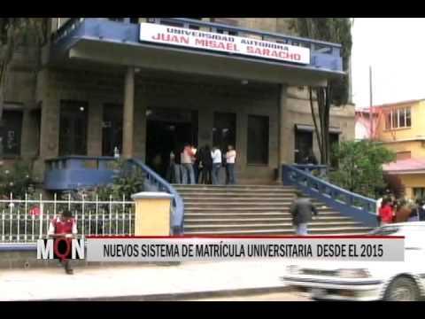 29/10/14 14:31 NUEVOS SISTEMA DE  MATRÍCULA  UNIVERSITARIA  DESDE EL 2015