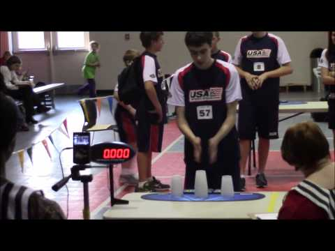 William Orrell Sport Stacking 5.000! New Cycle World Record!