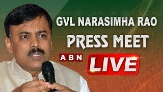 BJP MP GVL Narasimha Rao Press Meet LIVE | ABN LIVE