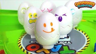 Learn Shapes and Colors with Hide N' Squeak Eggs!