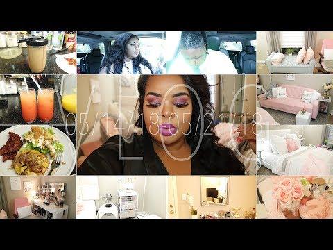 V L O G: 5/14-5/22 . Bedroom Makeover, Smoothie, Drinks, Hosting Dinner, Aggy A$$ Friend etc.!
