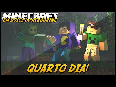 Minecraft: EM BUSCA DO HEROBRINE QUARTO DIA #4