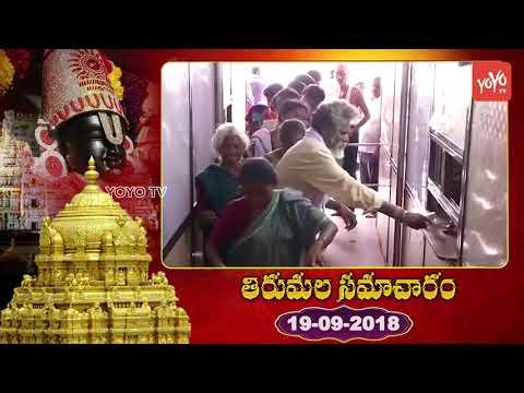 తిరుమల తిరుపతి సమాచారం | Tirumala Samcharam Today | #TTD News | YOYO TV Channel
