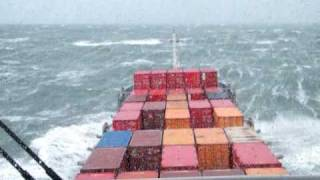 58 knots storm on the North Sea