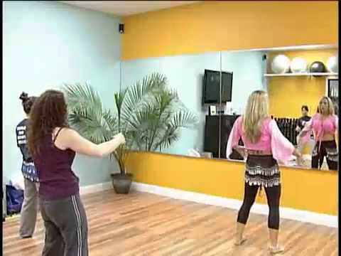 "-Cindy Fox aka ""Naked Cowgirl"" Teaching BELLY DANCE BASICS"