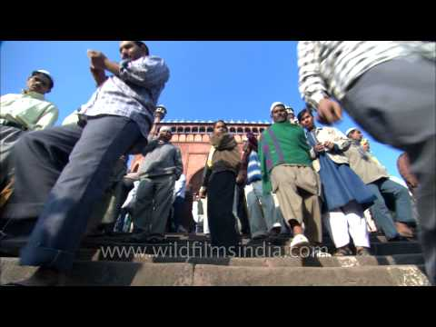 Muslims pray to strengthen brotherhood at Jama Masjid during Eid al-Adha