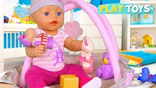 Baby Born Evening Routine! 🎀 Play with Baby Born Bath and Bedroom Furniture Toys!