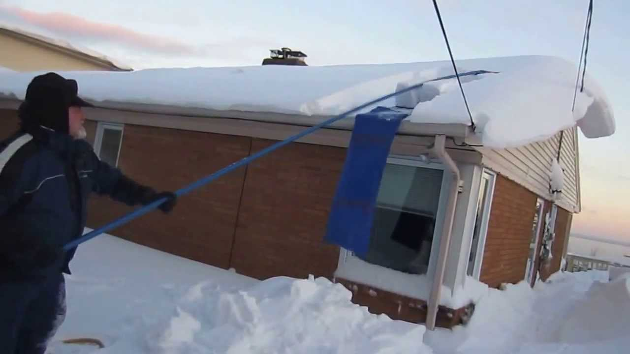 Avalanche Roof Rake Initial Use Youtube