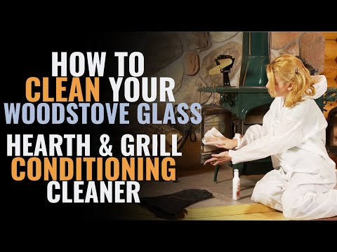 How to Clean Your Woodstove Glass - Hearth & Grill Conditioning Glass Cleaner