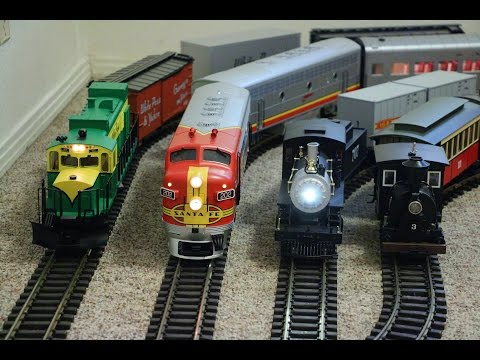 Big model trains running inside my small house