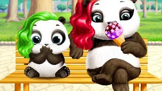 Fun Animals Care Games - Play Panda Lu Baby Bear Hair Salon Dress Up Gameplay