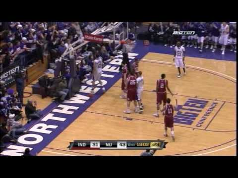 Northwestern Wildcats Basketball vs. Indiana Hoosiers - 2/7/10 Video