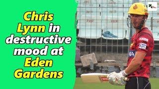 Watch: Chris Lynn shows his power hitting in KKR's practice match | IPL 2019 | Kolkata Knight Riders