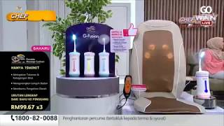 Product Review by Chef Wan - Gintell Massage Cushion & Steel Casserole Set | Go Shop
