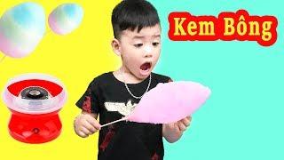 Trò Chơi Máy Làm Kem Bông ♥ Min Min TV Minh Khoa ♥ Đồ Chơi Trẻ Em