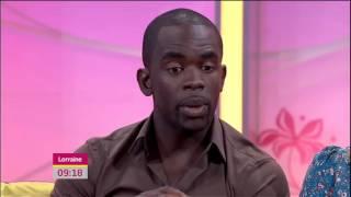 Lauren Drummond & Jimmy Akingbola interview - ITV1 - Lorraine - 31st July 2012
