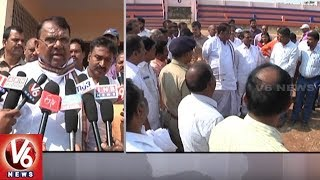 Minister Pocharam Inspects Farmers' Coordination Committee Meeting Arrangements In Karimnagar