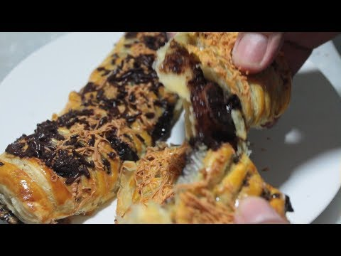 Resep Pisang coklat keju kulit puff pastry