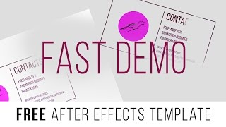 "FREE After Effects Template ""Fast Demo"""