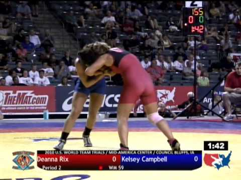World Team Trials Finals: 59kg - Olympian Kelsey Campbell vs. Deanna Rix Match 2