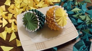 Origami 3d - Lemon And Lime - How To Make
