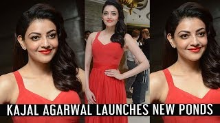 Kajal Agarwal Launches New Ponds Starlight Perfumed Talc