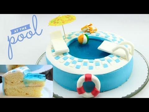 Swimming Pool Torte Pool Torte Pool Cake Swimming Pool Cake Youtube