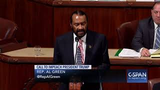 Jheri Curl Al Green Almost-Human Apeman Falls Short As Only 58 Commies Vote To Impeach Trump