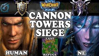 Grubby | Warcraft 3 TFT | 1.29 | HU v NE on Last Refuge - Cannon Towers Siege
