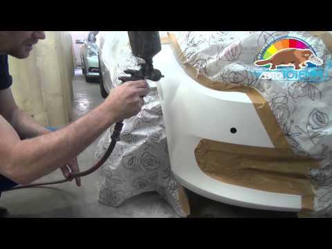 Как правильно покрасить пластиковый бампер своими руками 2