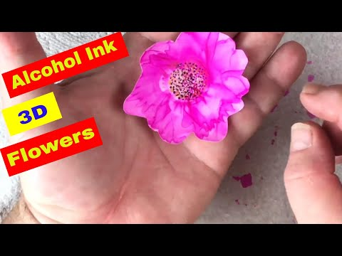 How to Make Alcohol Ink Flowers with a Difference