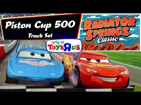 Piston Cup 500 Race Track Playset Disney CARS 2 ToysRus Radiator Springs Classic Pixar Speedway set