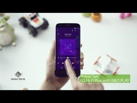 MWC 2016 - Дисплей LG G5 и модуль LG Hi-Fi Plus с B&O Play - Display LG G5, Module LG Hi-Fi Plus