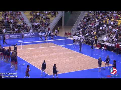 U.S. Women versus Japan in USA Volleyball Cup on July 12