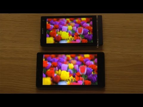 Sony Xperia Z vs. Sony Xperia S - Screen Comparison