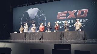 181110 EXO ?Tempo? FanSigning EVENT Sketch