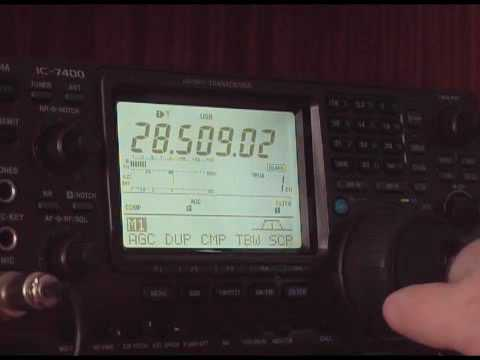 Talking to Germany on 10 m ham radio