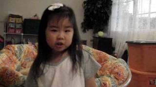 "WOW, so cute: Tiny 3 yr. old girl sings: ""The Old Rugged Cross""!!!!"