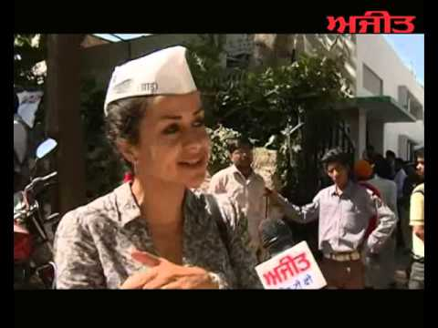 Spl. Interview with Gul Panag Aam Admi Party Candidate from Chandigarh on Ajit Web Tv.